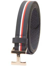 Tommy Hilfiger 100% Leather Fashion Belt - Blue