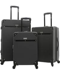 Kensie 3 Piece Carroll Luggage Set - Black