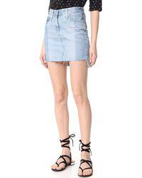 AG Jeans The Sandy Pencil Skirt - Blue