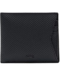 Lacoste Chantaco Billfold With Card Holder Wallet - Black