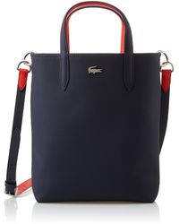 Lacoste Womens Anna Vertical Shopping Tote Bag - Blue