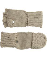 Calvin Klein Lurex Textured Flip Top Glove - Multicolor