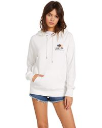 Volcom Vol Stone Hooded Fleece Sweatshirt - White