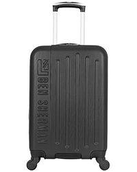 Ben Sherman Leicester Hardside Lightweight 4-wheel Spinner Checked Luggage - Black
