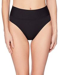 Nautica High Rise Core Transformable Wide Waist Band Bikini Bottom Swimsuit - Black