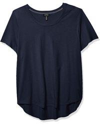Jones New York Short Sleeve Scoop Neck Tee - Blue