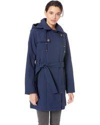 Steve Madden Asymmetrical Softshell Jacket - Blue