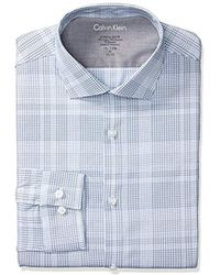 Calvin Klein - Dress Shirts Xtreme Slim Fit Thermal Stretch Plaid - Lyst