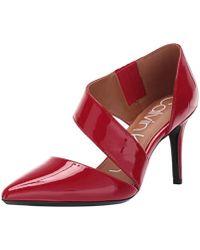 Calvin Klein - Gella Pump (black Leather) High Heels - Lyst