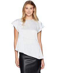 Ivanka Trump Shirt Charmeuse - White