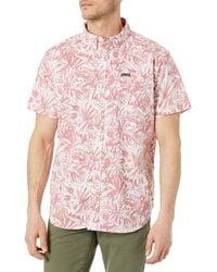 Columbia Rapid Rivers Printed Short Sleeve Shirt - Pink