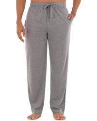 Izod Jersey Knit Sleep Pant - Gray