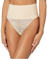 8cbb011dd8 Maidenform - Tame Your Tummy Shaping Lace Thong With Cool Comfort - Lyst