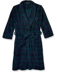 Nautica Long Sleeve Cozy Soft Plush Shawl Collar Robe - Blue