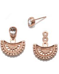 Satya Jewelry S White Topaz Rose Gold Dala Earring Jacket