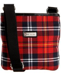 Tommy Hilfiger Georgia Holiday Plaid N/s Cross-body,black/red,one Size