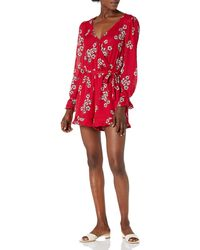 Cupcakes And Cashmere Lilirose Printed Cdc Romper - Red