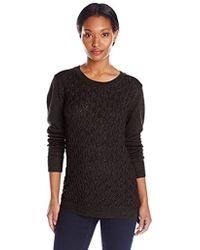 Dockers Cable-front Pullover Sweater - Black