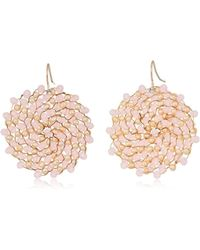 Kenneth Cole - S Blush And Neutral Woven Drop Earrings, One Size - Lyst