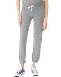 Monrow Maternity Vintage Sweats - Gray