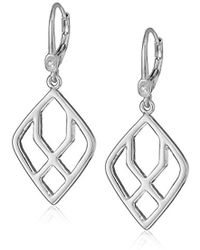 Ivanka Trump - Classics Silver-tone Open Drop Earrings, 0 - Lyst