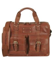 Tommy Bahama Luggage The Back 9 Briefcase - Brown