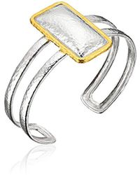Gurhan - Spell Sterling Silver Rectangle Cuff Bracelet - Lyst