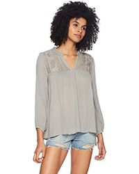 O'neill Sportswear Mara Woven Top, Neutral Gray/fog, M
