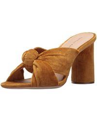 61b5a8ad8e6ce6 Loeffler Randall - Coco High Heel Knot Slide (velvet) Heeled Sandal - Lyst