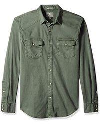 Lucky Brand Long Sleeve Button Up Workwear Western Shirt - Green