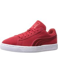 Suede Classic Trainers Ribbon Red Black
