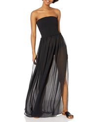 Ramy Brook Calista Smocked Maxi Dress - Black