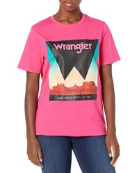 Wrangler Short Sleeve Graphic T-shirt - Pink