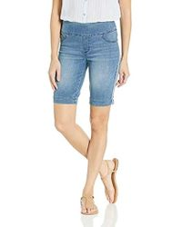 de78f214d4 Rafaella Slim Fit Denim Bermuda Short in White - Save 57% - Lyst