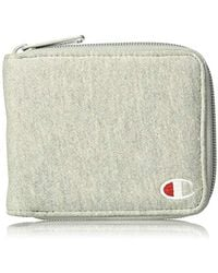 Champion Reverse Weave Zip Bifold Wallet, Medium Gray, One Size