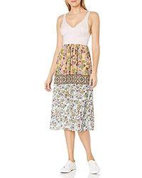 Clover Canyon Sportswear Neoprene / Georegette Dress - Multicolor