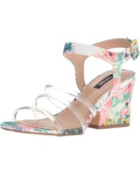 Kensie Ebony Heeled Sandal - White