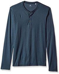 AG Jeans Clyde Long Sleeve Henley - Blue