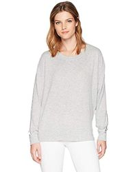 William Rast - Tye Sweatshirt With Slit Tie Back - Lyst