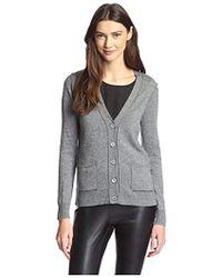 James & Erin - Contrast Stitch Cardigan Sweater - Lyst