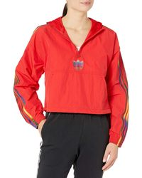 adidas Originals Womens Cropped Half-zip Scarlet X-large - Red