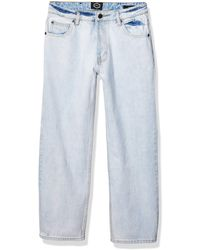 RVCA Filtered Straight Leg Denim Jean White 29 - Blue