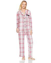 Ellen Tracy - Velour Pajama Set - Lyst