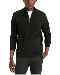 Dockers Long Sleeve Quarter Zip Sweater - Black