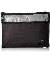 Armani Exchange   Nylon Ultr Lightbig Cosmetic Cse - Black