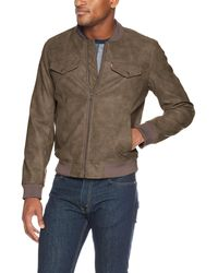 Levi's Faux Suede Lightweight Trucker Bomber Jacket - Brown