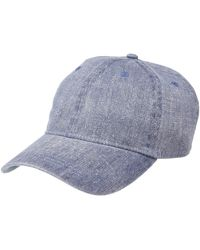 Michael Stars Joey Washed Baseball Cap - Blue