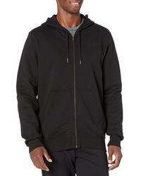 Peak Velocity Heavyweight Fleece Full-zip Athletic-fit - Black