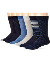 Perry Ellis - Portfolio Assorted 6 Pk Casual Comfort Stripe Socks - Lyst 9f2a2a585