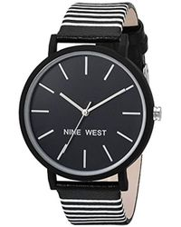 Nine West - Striped Strap Watch - Lyst